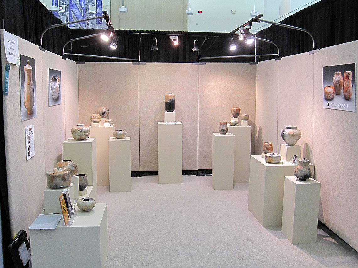 Alex's booth at the American Craft Exposition, August 2013
